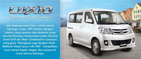 Karet Kaca Depan Grand Max Orisinil Daihatsu daftar harga dan spesifikasi mobil luxio 2013 terbaru