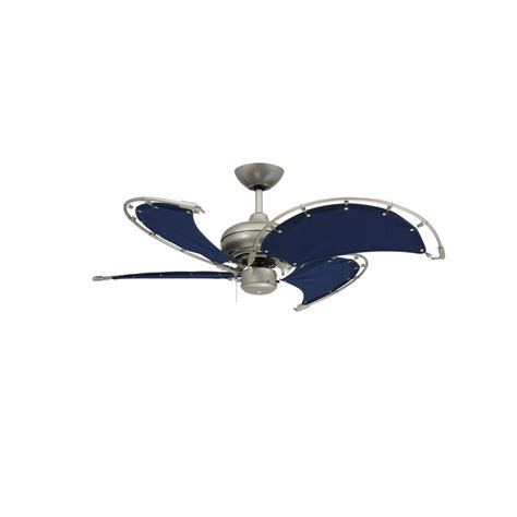 ceiling fans with fabric blades troposair voyage 40 in indoor outdoor brushed nickel