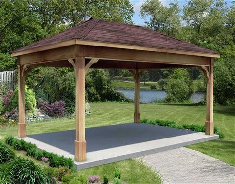 gazebo metal roof cut cedar single roof open rectangle gazebos with
