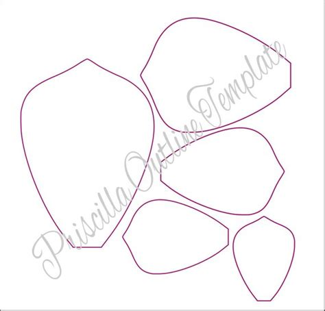 Giant Paper Flowers Giant Paper Flower Templates Large Paper Flower Template Printable