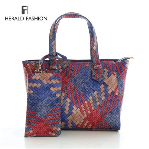 Handmade Bags Design - design woven knitted tote bag weave multi color