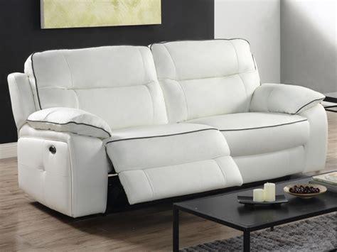 divano relax 3 posti divano e poltrona relax in pelle bianco o nero catane