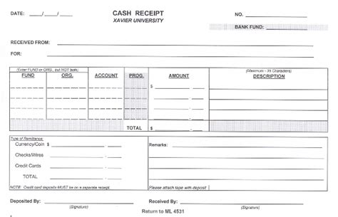 Blank Credit Card Receipt Template 6 Free Receipt Templates Excel Pdf Formats