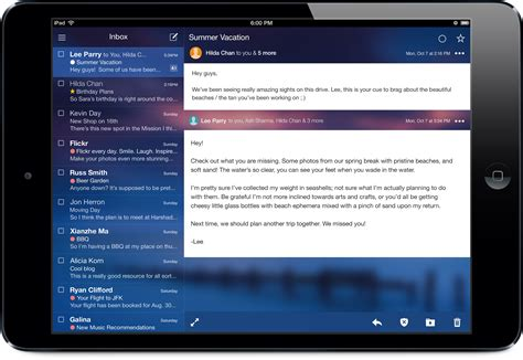 yahoo email on ipad yahoo mail gets cross platform themes 1tb of storage