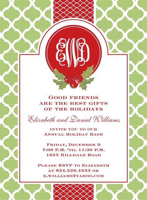 preppy holiday wasabi invitations  noteworthy collections invitation box christmas party