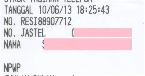 Printer Struk Pln contoh struk telkom memakai transaksi menggunakan printer