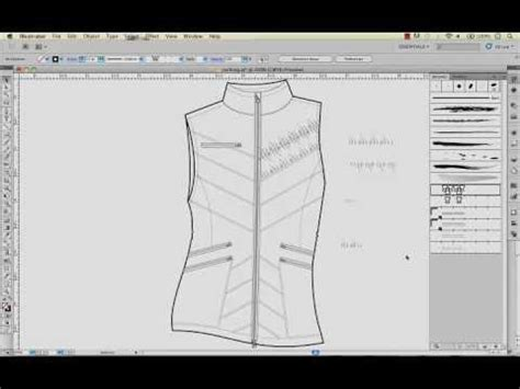 pattern on illustrator youtube ruching ruffles or puckers with pattern brushes in