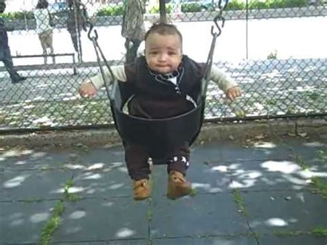 baby swing for 6 month old 6 month old baby emperors first time in the big boy swing