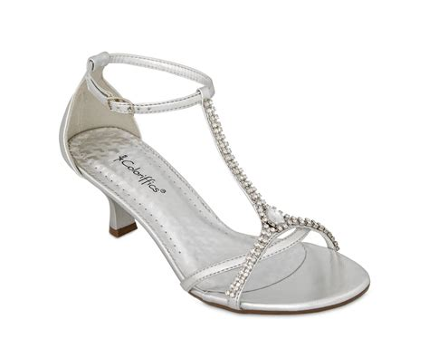 silver metallic rhinestone low heel dress shoes prom silver wedding shoes silver