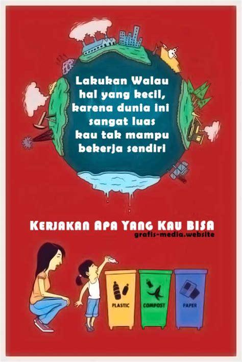 slogan kata bijak tentang sampah plastik