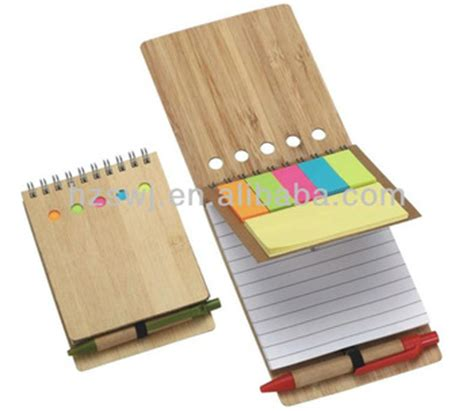 New Promotion School Notebook Spiral Notebook Shanghai - promotion bamboo wood cover metal spiral notebook made in