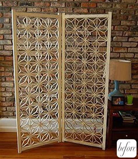folding screen headboard before after brooke s folding screen headboard design