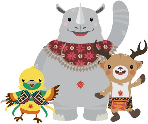 Gamis Akasia file 2018 asian mascot svg