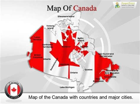 canada powerpoint template editable canada map powerpoint slides authorstream