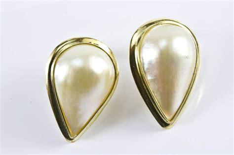 15x22mm tear drop mabe pearl earrings ma earrings103