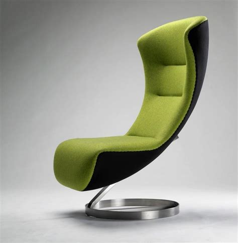 Moderne Sessel by Modern Green Lounge With Aluminum Leg