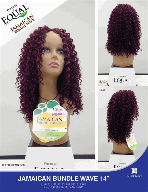 jamaican weave hair freetress equal jamaican bundle wave weave 14 inch