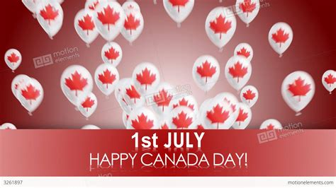 day in happy canada day stock animation 3261897