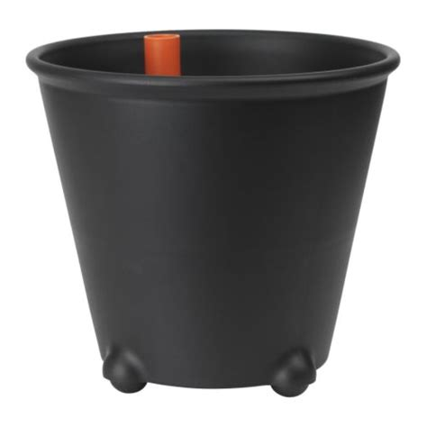 self watering pots ikea ps fej 214 self watering plant pot black ikea