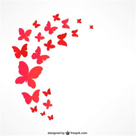 imagenes mariposas estilizadas mariposas rojas que vuelan descargar vectores gratis