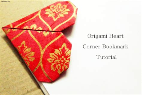 How To Make An Origami Corner Bookmark - origami corner bookmark tutorial platter