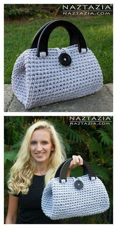 Tas Handbag Anello Big Go Motif 5 two color tunisian crochet tote by brand yarn