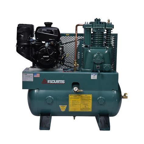 fs curtis  gal  hp horizontal gas air compressor