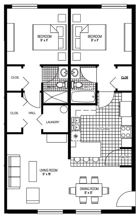 Two Bedroom Floor Plan by Luxury 2 Bedroom Floor Plans 2 Bedroom Floor Plan 30x30