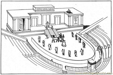 printable roman images old roman theatre coloring page free buildings coloring