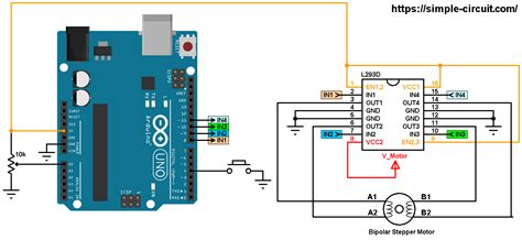 arduino bipolar stepper motor control simple projects