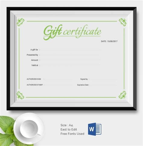 25 Certificate Templates Free Premium Templates Business Gift Certificate Template