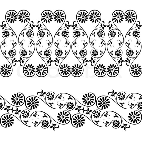 chocolate lace template wedding lace border seamless pattern with swirling