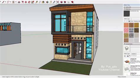 eps  desain rumah lahan memanjang     lantai ide penataan ruang taman youtube