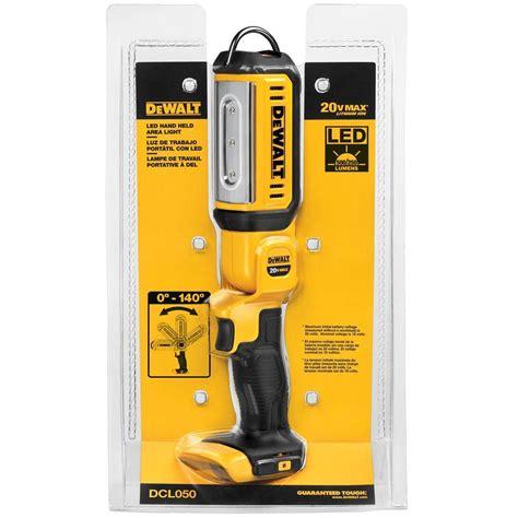 max led lights dewalt 20 volt max led held area light dcl050 the
