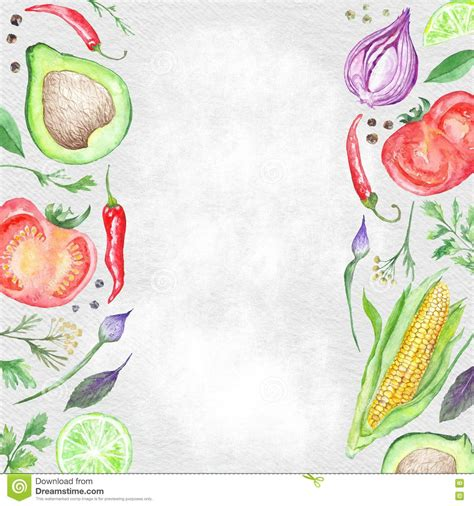 healthy menu template healthy food borders stock illustration image of