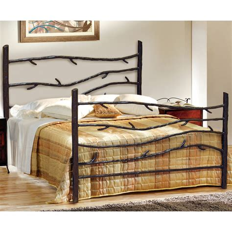 wrot iron bed pictured here is the woodland wrought iron bed hand forged