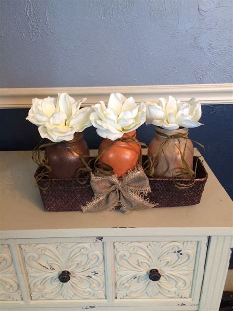 Handmade Fall Decorations - 17 shabby chic handmade fall jar decor ideas for the