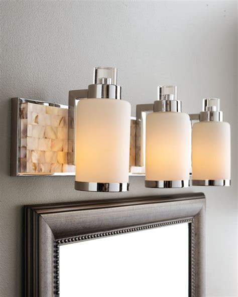 capiz shell mosaic tile of pearl bathroom vanity - Houzz Bathroom Lighting
