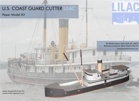 Ship Papercraft - coast guard ship lilac papercraft papercraft paradise