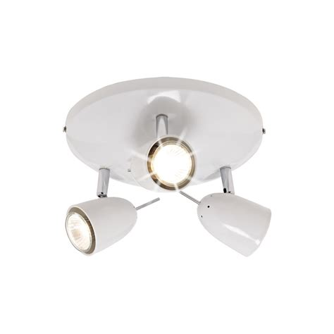 wilko 3 arm spot dome white at wilko