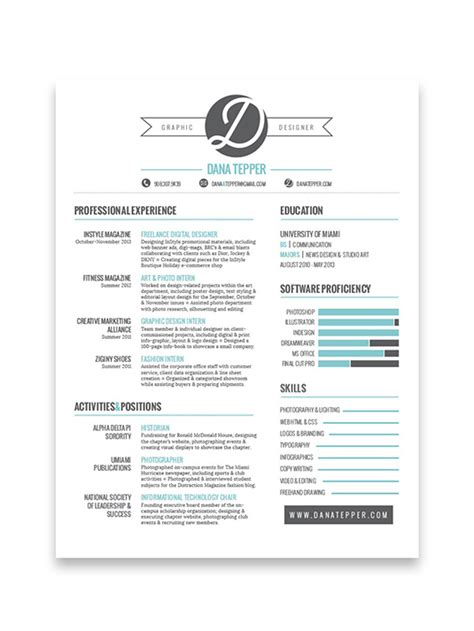 Resume Design 10 Cool Resumes Made By Professional Graphic Designers Software Elearning Center