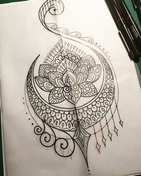 henna tattoo sketches increible y perfecto trabajo de puntillismo mandala