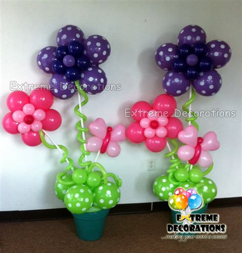 flower balloon decorations favors ideas