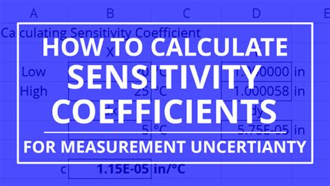 How To Calculate Sensitivity Coefficients For Measurement