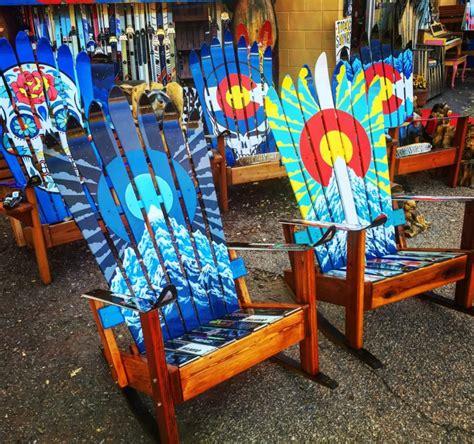 colorado ski chairs colorado sunburst or moonburst ski chair painted