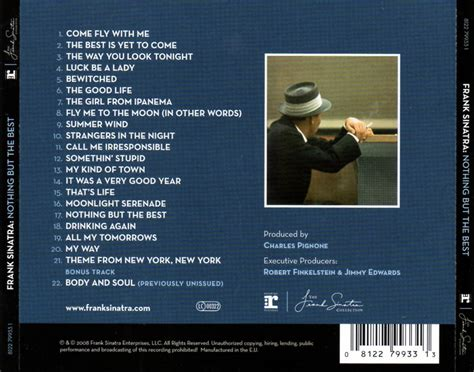 nothing but the best frank sinatra car 225 tula trasera de frank sinatra nothing but the best