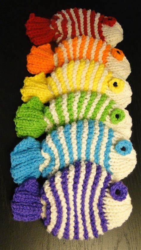 how to knit a fish you wash your dishes with them knitted dish clothes a