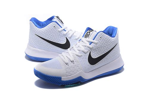 nike basketball shoes blue and white new nike kyrie irving 3 ep white blue black mens