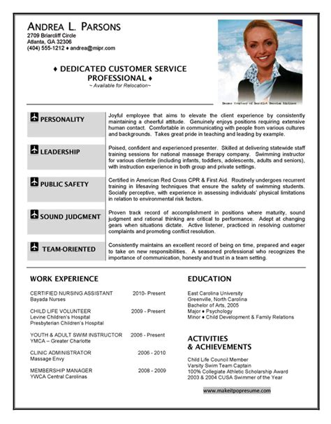 Resume Sles For Experienced Cabin Crew Flight Attendant Resume Customer Service Writing Resume Sle Writing Resume Sle