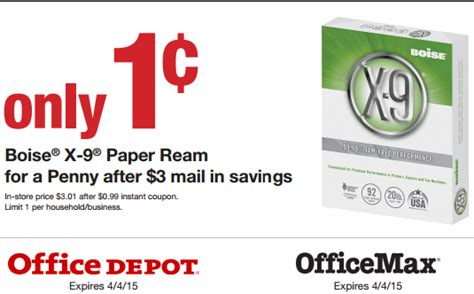 Office Depot Boise Office Depot Boise X 9 Ream Of Paper Only 0 01